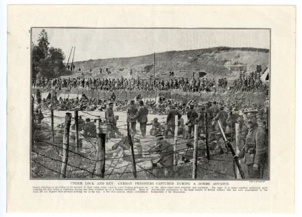 1916 SOMME Captured German Prisoners Compound POW's WORLD WAR ONE Herbert Plumer